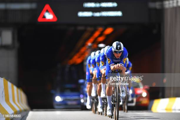 Yves Lampaert of Belgium and Team Deceuninck QuickStep / during the 106th Tour de France 2019 Stage 2 a 276 Team Time Trial stage from Bruxelles...