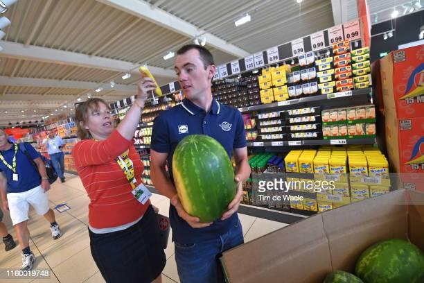 Yves Lampaert of Belgium and Team Deceuninck QuickStep / Food / Watermelon / during the 106th Tour de France 2019 Team Deceuninck QuickStep Press...