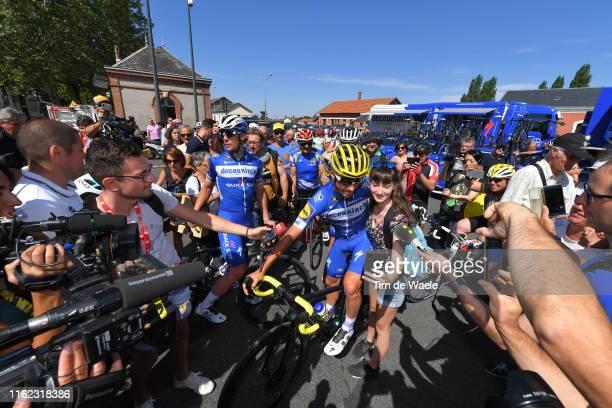 Yves Lampaert of Belgium and Team Deceuninck - Quick-Step / Julian Alaphilippe of France and Team Deceuninck - Quick-Step Yellow Leader Jersey /...