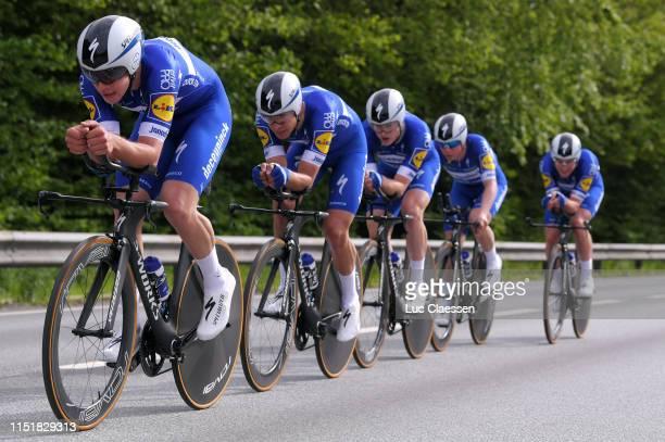 Yves Lampaert of Belgium and Team Deceuninck QuickStep / Remco Evenepoel of Belgium and Team Deceuninck QuickStep / Alvaro Jose Hodeg Chagui of...