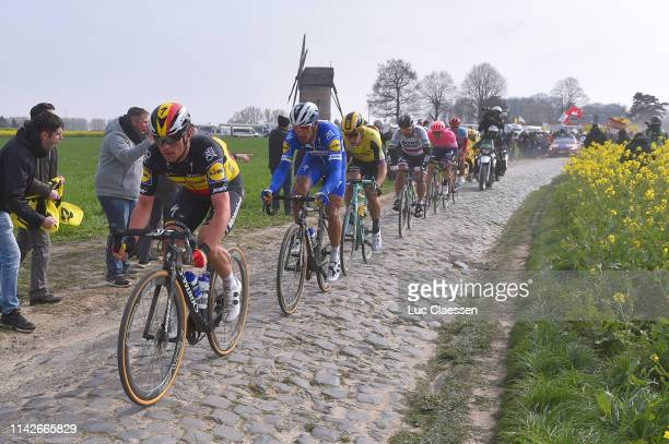 Yves Lampaert of Belgium and Team Deceuninck-QuickStep / Philippe Gilbert of Belgium and Team Deceuninck-QuickStep / Wout Van Aert of Belgium and...