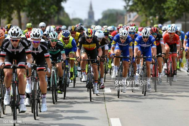 Yves Lampaert of Belgium and Team Quick Step Floors / Niki Terpstra of Netherlands and Team Quick Step Floors / Florian Senechal of France and Team...
