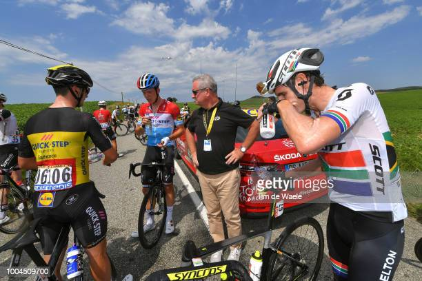 Yves Lampaert of Belgium and Team Quick-Step Floors / Bob Jungels of Luxembourg and Team Quick-Step Floors / Daryl Impey of South Africa and Team...
