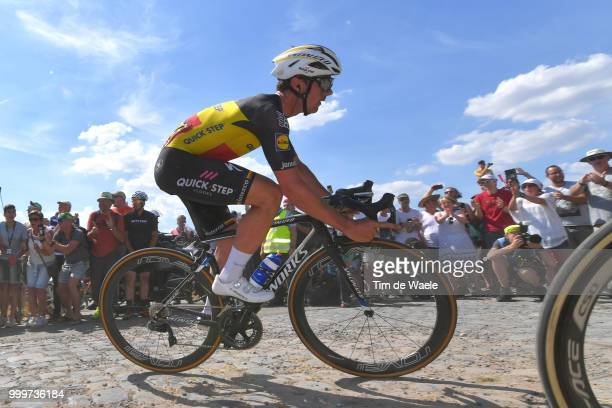 Yves Lampaert of Belgium and Team QuickStep Floors / Edvald Boasson Hagen of Norway and Team Dimension Data / during the 105th Tour de France 2018...