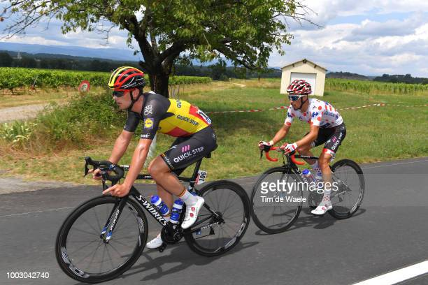 Yves Lampaert of Belgium and Team QuickStep Floors / Julian Alaphilippe of France and Team QuickStep Floors Polka Dot Mountain Jersey / during the...