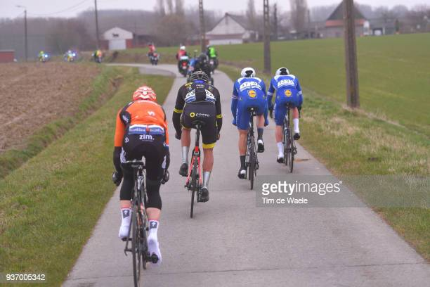 Yves Lampaert of Belgium and Team Quick-Step Floors / Niki Terpstra of The Netherlands and Team Quick-Step Floors / Damien Gaudin of France and Team...