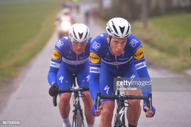 Yves Lampaert of Belgium and Team Quick-Step Floors / Niki Terpstra of The Netherlands and Team Quick-Step Floors / during the 61st E3 Harelbeke 2018...