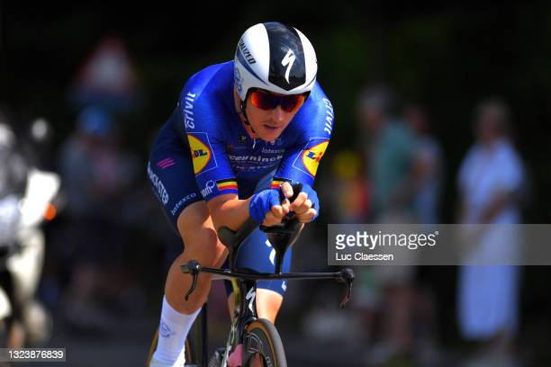 Yves Lampaert of Belgium during the 122th Belgian Road Championship 2021 - Men's Individual Time Trial a 37,6km race from Ingelmunster to...