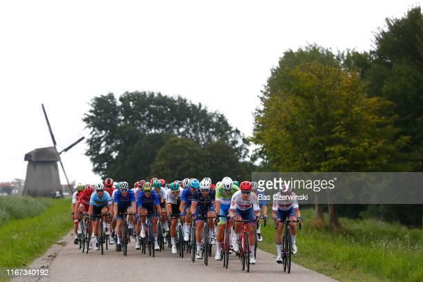 Yves Lampaert of Belgium / Salvatore Puccio of Italy / Davide Ballerini of Italy / Matteo Trentin of Italy / Florian Senechal of France / Luke Rowe...
