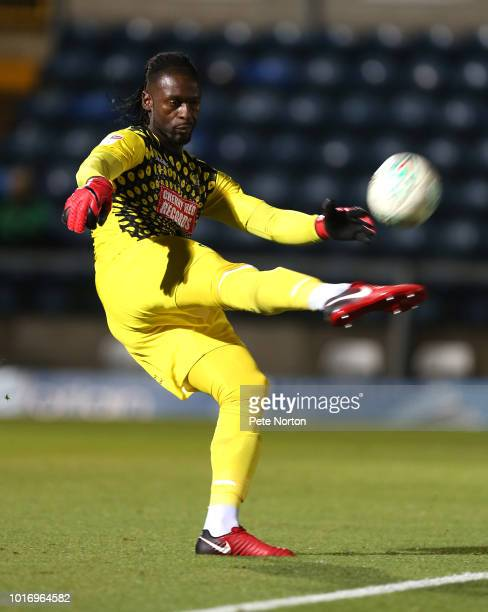 Yves MaKalambay of Wycombe Wanderers in action during the Carabao Cup First Round match between Wycombe Wanderers and Northampton Town at Adams Park...