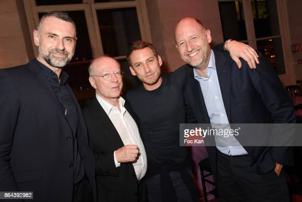 Yves Mirande Daniel Templon Ora ito and Benoit Parayre attend the 'Bal Jaune Elastique 2017' Dinner Party at Palais Brongniart on October 20 2017 in...