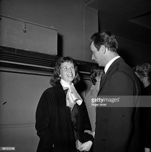 Yves Montand French actor and singer and Betsy Blair American actress Paris 1963 HA13694