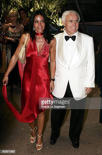 Yves Piaget and an unidentified guest arrive at the 57th Red Cross Ball on August 5 2005 in Monte Carlo Monaco