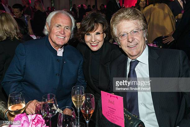Yves Piaget Denise Fabre and her husband Francis Vandenhende attend the Piaget Rose Day Private Event in Orangerie Ephemere at Jardin des Tuileries...