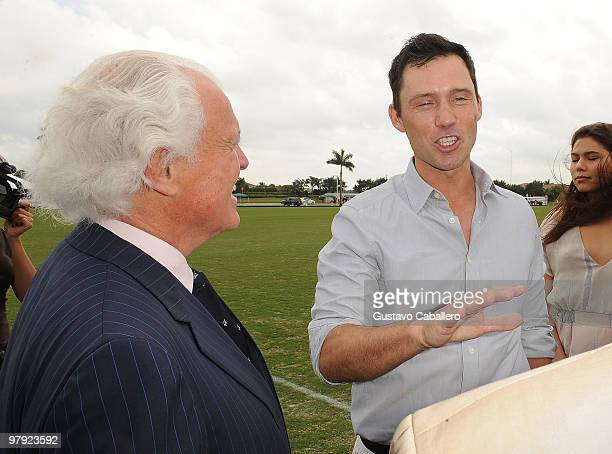 Yves Piaget, Jeffrey Donovan and Michelle Woods attend the Piaget Gold Cup at the Palm Beach International Polo Club on March 21, 2010 in Wellington,...