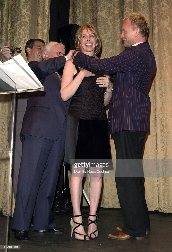 Yves Piaget, Sting and Trudie Styler during Tru(e) Gems Rainforest - Us Benefit Sponsored By Piaget To Honor Trudie Styler at Manhattan Center in New York, New York, United States.