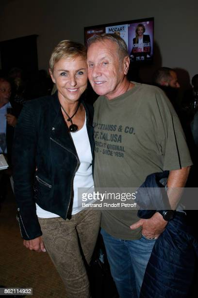 Yves Renier and his wife Karin attend the One Woman Show by Christelle Chollet for the Inauguration of the Theatre de la Tour Eiffel Held at Theatre...