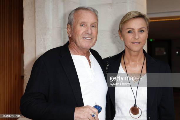 Yves Renier and his wife Karine attend day 3 photocall of 20th Festival of TV Fiction on September 14, 2018 in La Rochelle, France.