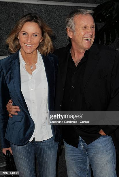 Yves Renier and his wife Karine attend TF1 Press conference.