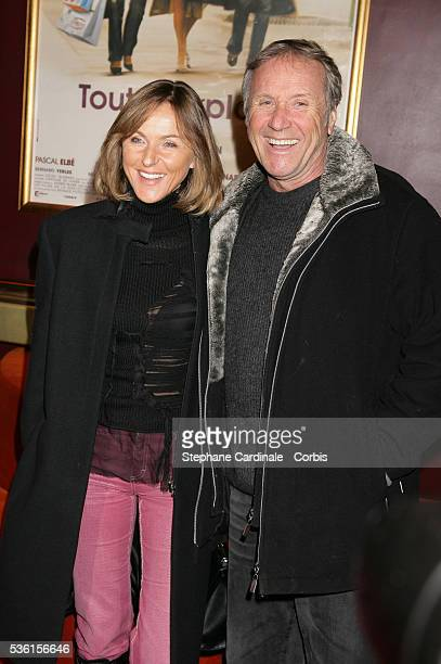 "Yves Renier and his wife Karine attend the Paris premiere of the movie ""Tout Pour Plaire."""