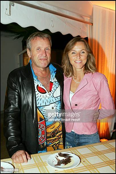 Yves Renier and wife Karine at Line Renaud 77th Birthday Party Celebration.