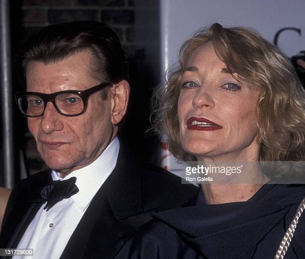 Yves Saint Laurent and Loulou de la Falaise attend 18th Annual Council of Fashion Designers of America Awards on June 2 1999 at the 69th Regiment...