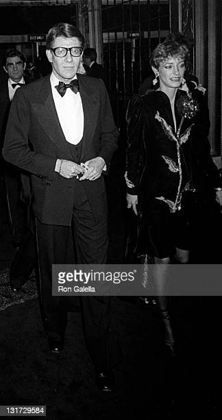Yves Saint Laurent and Loulou de la Falaise attend the party for Opium Perfume Launch on September 20 1978 at Studio 54 in New York City