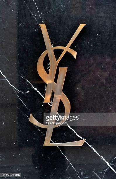 Yves Saint Laurent branding on their store in the prestigious Old Bond Street.