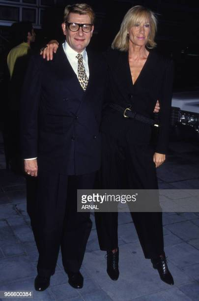 Yves Saint Laurent et Betty Catroux en juin 1993 à Paris France