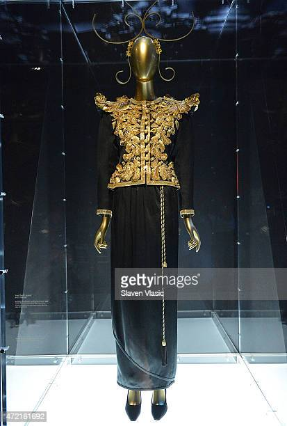 Yves Saint Laurent Evening Ensemble spring/summer 1980 jacket and skirt on display at 'China Through The Looking Glass' Costume Institute Benefit...