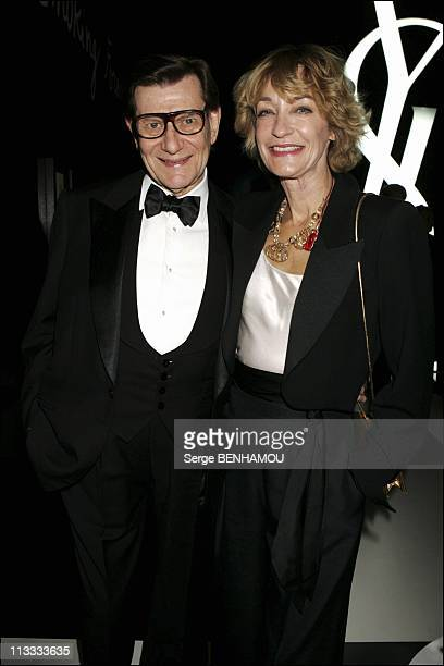 Yves Saint Laurent Smoking Forever Exhibition In Paris On October 3Rd 2005 In Paris France Here Yves Saint Laurent And Loulou De La Falaise
