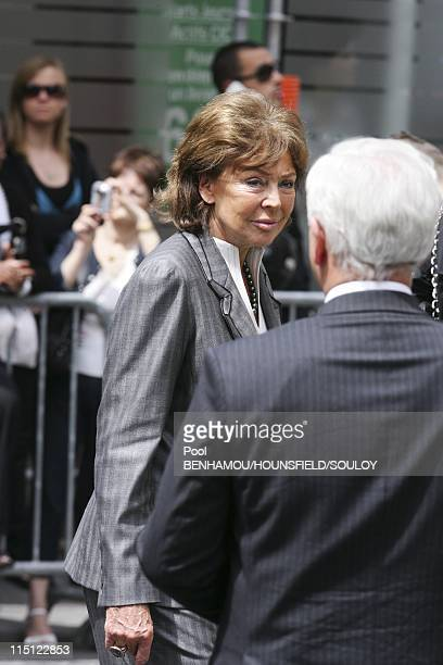Yves Saint Laurent's funeral at the Saint Roch Church in Paris France on June 05 2008 Lise Toubon