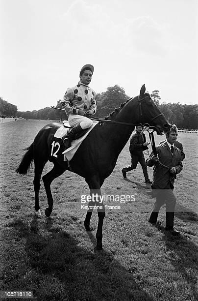 Yves Saint Martin Winner Of The Grand Prix Du Jockey Club In Chantilly In 1968