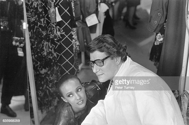 Yves St Laurent and Iman