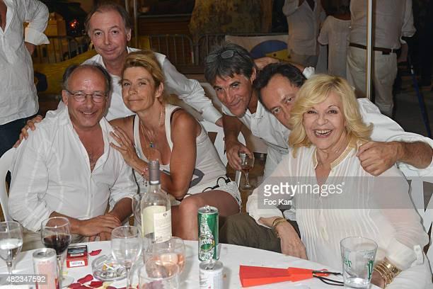 Yves Threard Figaro Philippe Chevallier Frigide Barjot Tex Jean Christophe Molinier and Nicoletta attend the Saint Tropez Tribute To Eddie Barclay...