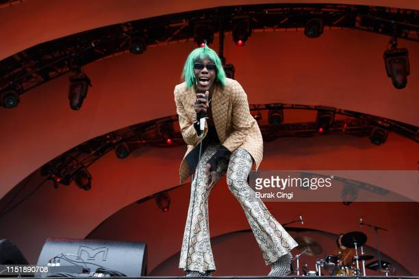 Yves Tumor performs during All Points East Festival at Victoria Park on May 26 2019 in London England