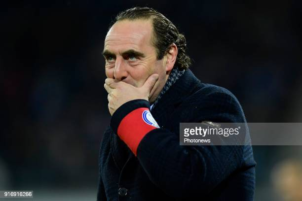 Yves Vanderhaeghe Headcoach of KAA Gent pictured during the Jupiler Pro League match between KAA Gent and Sint Truidense VV at the Ghelamco Arena on...
