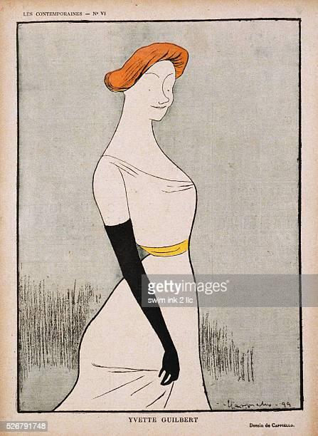 Yvette Guilbert Magazine Illustration by Leonetto Cappiello