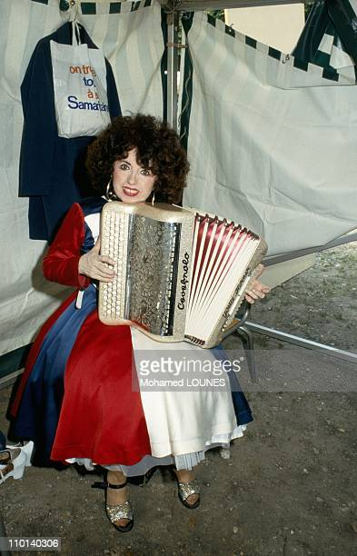Yvette Horner at Bastille Day Dance in Paris France on July 14 1987