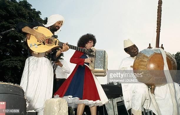 Yvette Horner at Bastille Day Dance in Paris France on July 14 1987