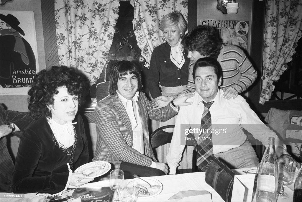 Yvette Horner, Serge Lama et André Verchuren en 1977 : Photo d'actualité
