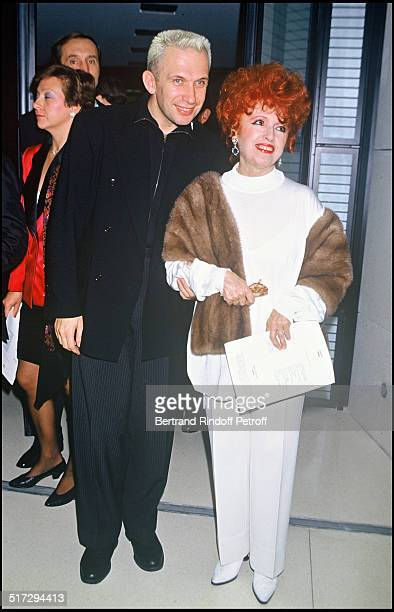 Yvette Horner with Jean Paul Gaultier at the party against AIDS