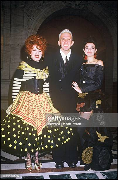 Yvette Horner with JeanPaul Gaultier and Beatrice Dalle at the 1987 Fashion Oscars