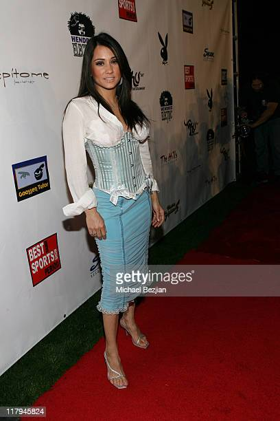 Yvette Lopez during Heavyweight Fight at the Playboy Mansion Tony The Tiger Thompson vs Timor Ibragimov at Playboy Mansion in Los Angeles California...