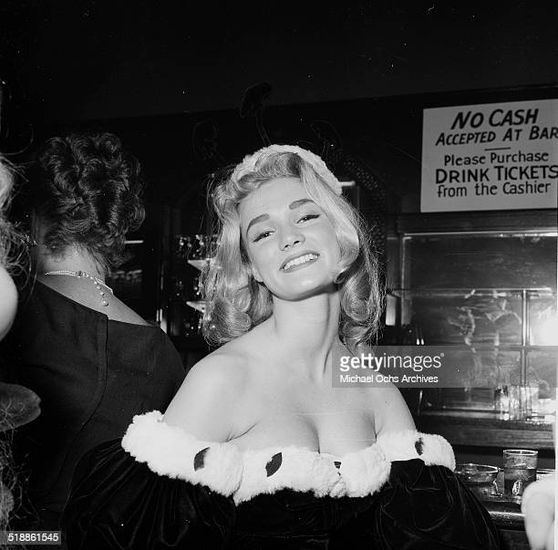 Yvette Mimieux age 16 attends the Ballyboo Ball in Los AngelesCA