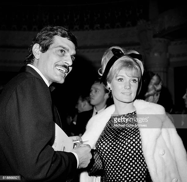 Yvette Mimieux with Omar Sharif attend an event in Los AngelesCA