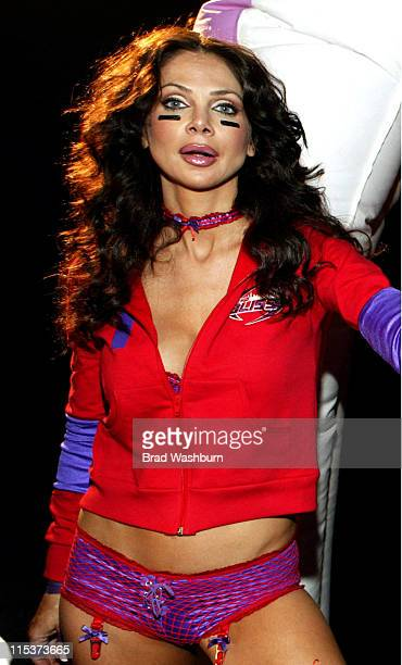 Yvette Nelson of Chicago Bliss during Lingerie Bowl HalfTime Challenge 2005 February 6 2005 at South Bay Studios Long Beach in Los Angeles California...