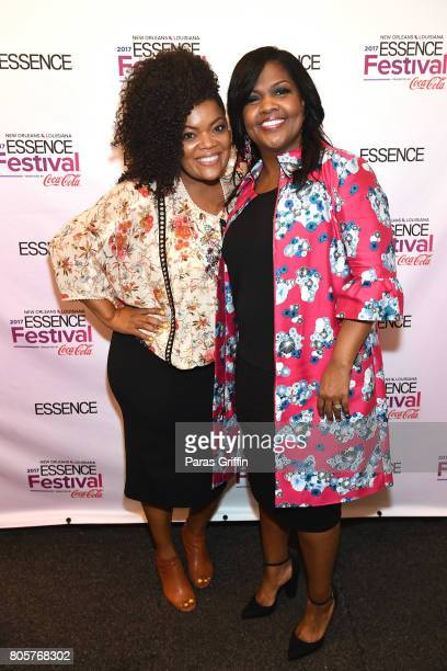 Yvette Nicole Brown and CeCe Winans pose backstage at the 2017 ESSENCE Festival presented by CocaCola at Ernest N Morial Convention Center on July 2...