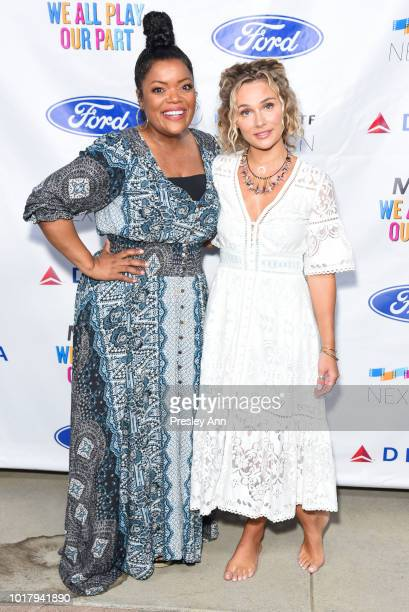 Yvette Nicole Brown and Clare Bowen attend MPTF's Annual NextGen Summer Party at Paramount Pictures on August 16 2018 in Los Angeles California