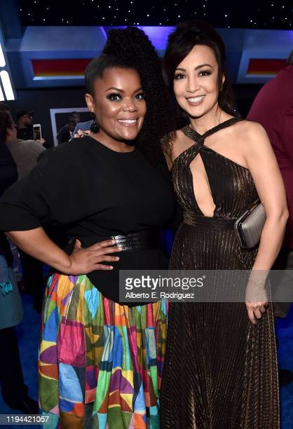 "Yvette Nicole Brown and Ming-Na Wen attend the World Premiere of ""Star Wars: The Rise of Skywalker"", the highly anticipated conclusion of the..."